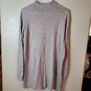 J Jill Silk Cream Long Sleeve Knit Cozy Tunic
